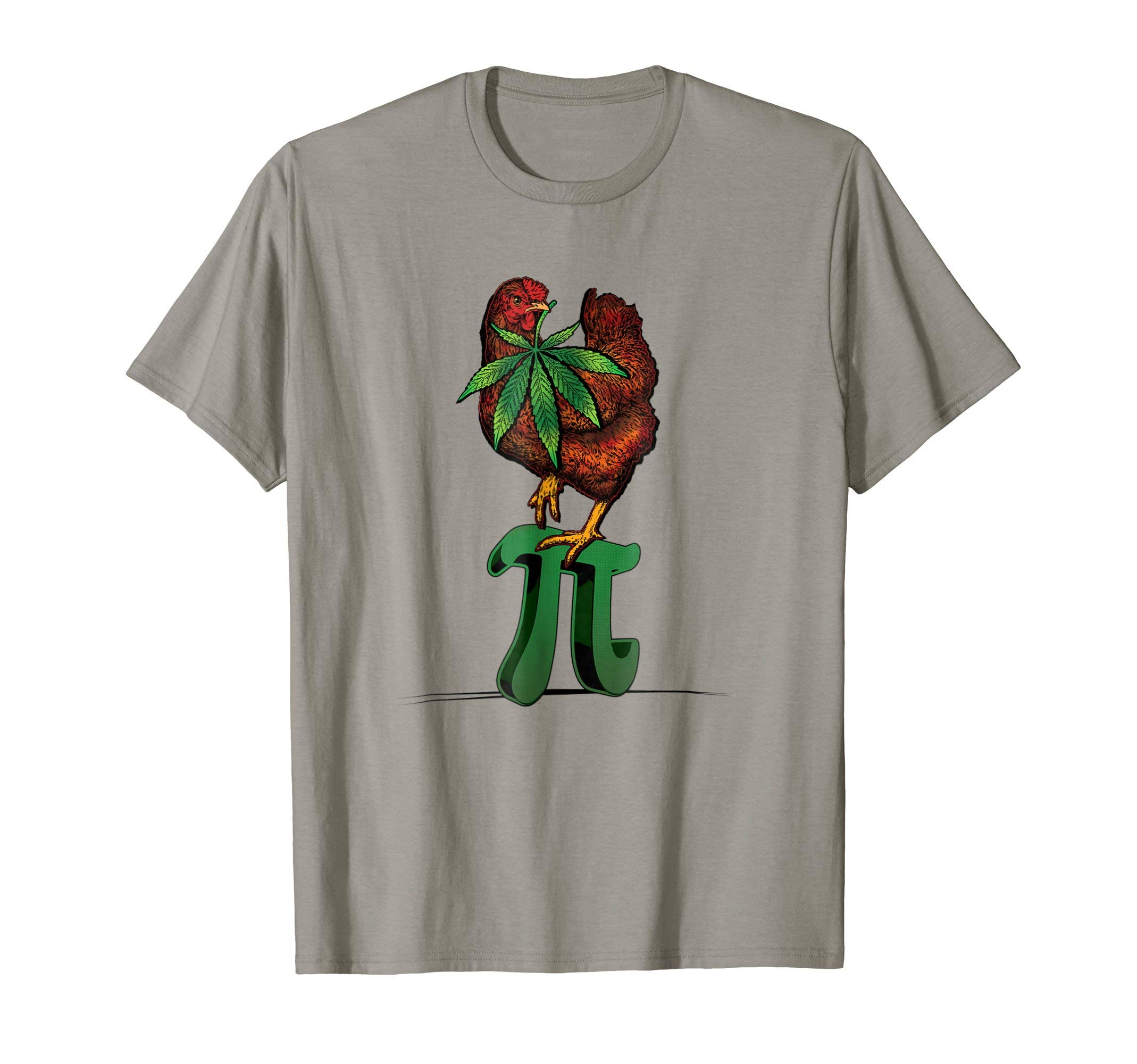 Funny Weed Chicken Pot Pi Stoner Cannabis Math T-Shirt