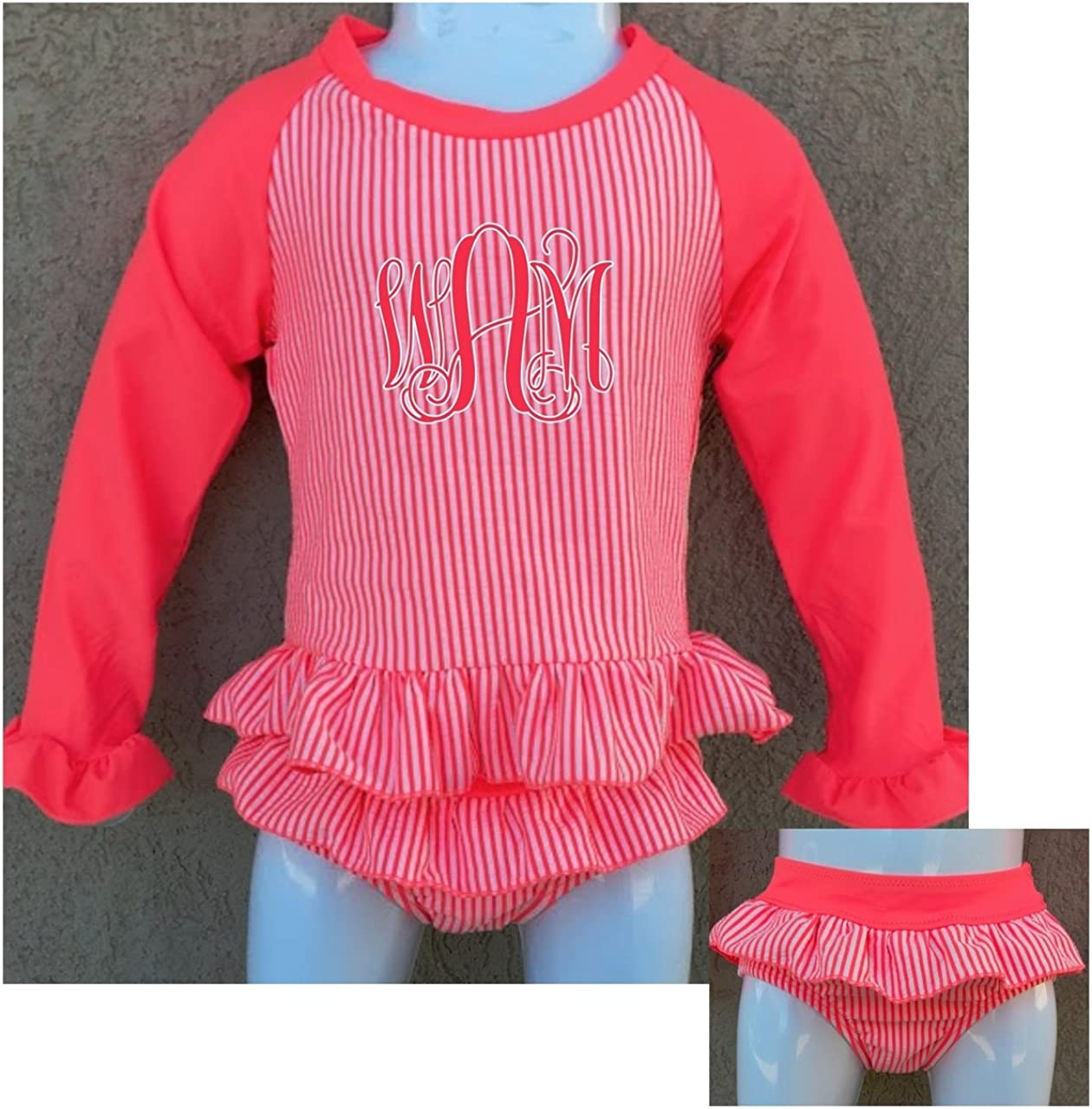 Agoky Baby Toddler Girls Long Sleeve Swimsuit Floral Rash Guard Sun Protection