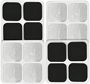 """16 Pads of Easy@home 2""""x 2"""" TENS Unit Reuseable Self Stick Carbon Electrode Pad - Non Irritating Design"""
