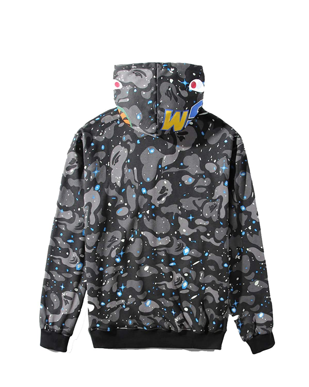 bcdb1bcd44e0 Amazon.com  Miranda Mens Ape Bape Hoodies Sweatshirt Fashion Casual Coat  Outdoor Hip-Hop Funny Tops  Clothing