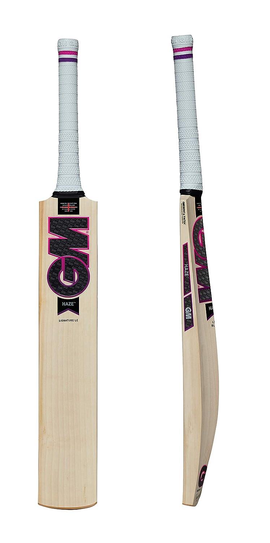 GM Haze Lite署名English Willow Cricket Bat – 2018 Edition ( Free Extra GMバットグリップ) B0778GNQQD