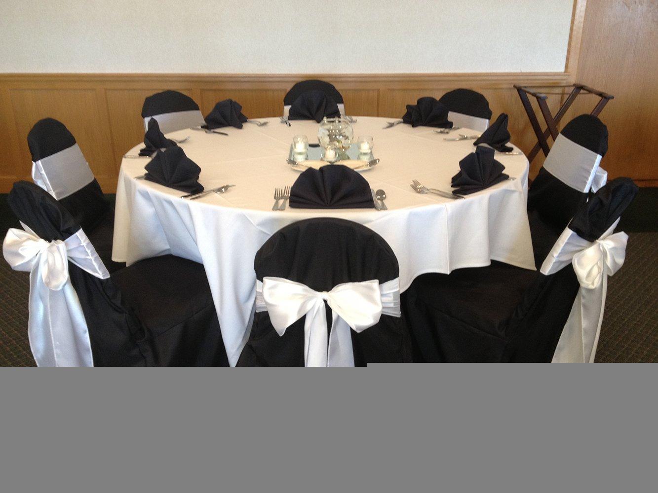 Satin Table Runner Black Pack of 10 12x108 Satin Table Linens for Baby Shower
