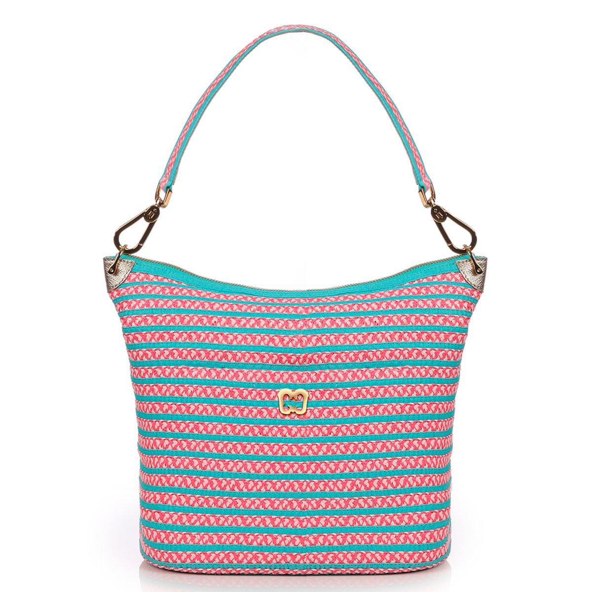 Eric Javits Luxury Fashion Designer Women's Handbag - Dame Brooke - Turq mix
