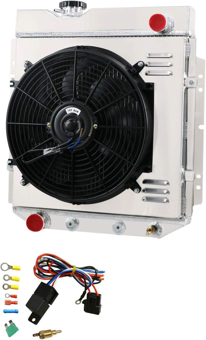 OzCoolingParts radiador de aluminio de 3 filas + ventilador de 14 ...