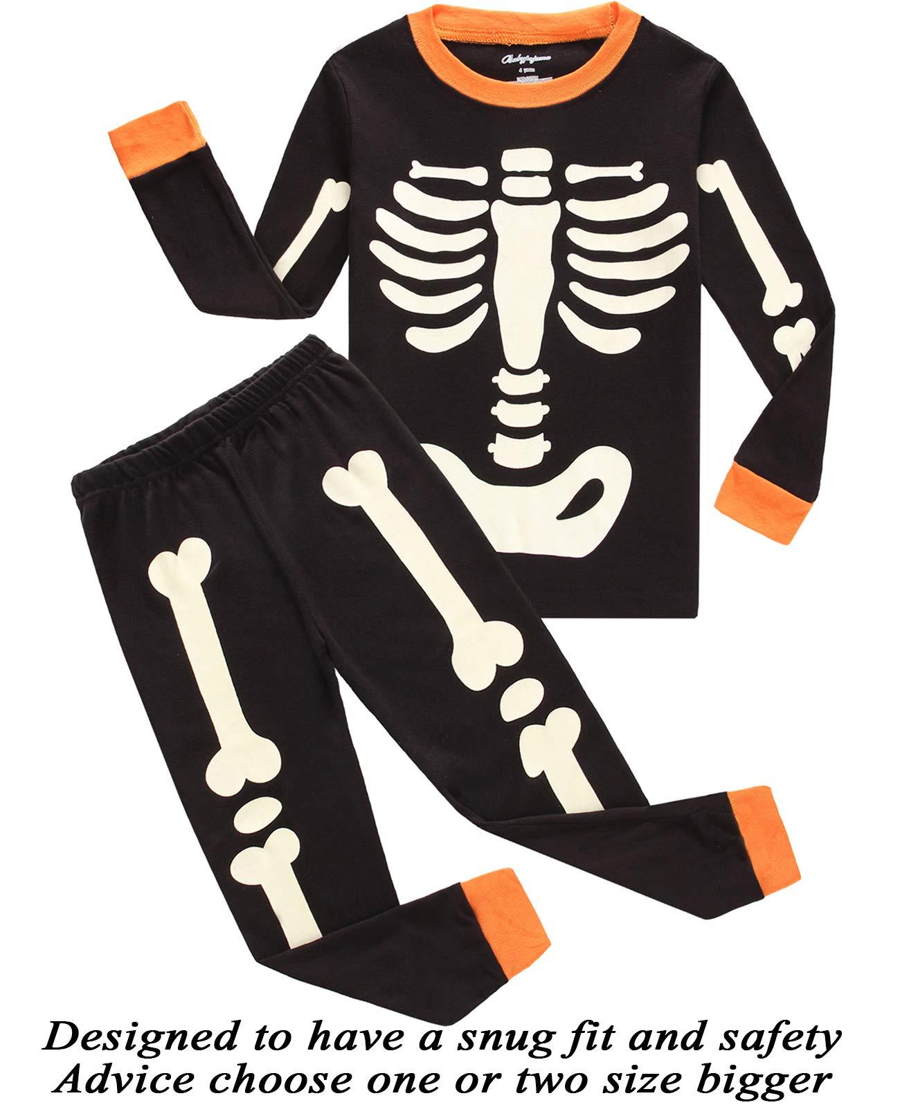 19eebc8e37d3 Galleon - Little Bety 100% Cotton Boys Halloween Pajamas Glow In The ...