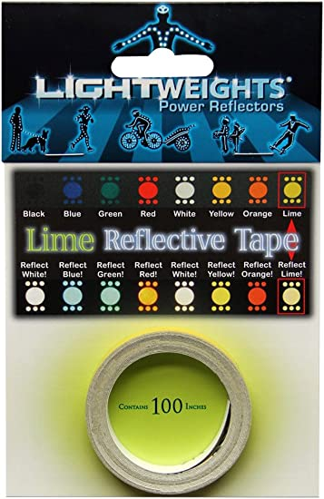 """Lightweights 100/"""" Roll Of Reflective Tape Black"""