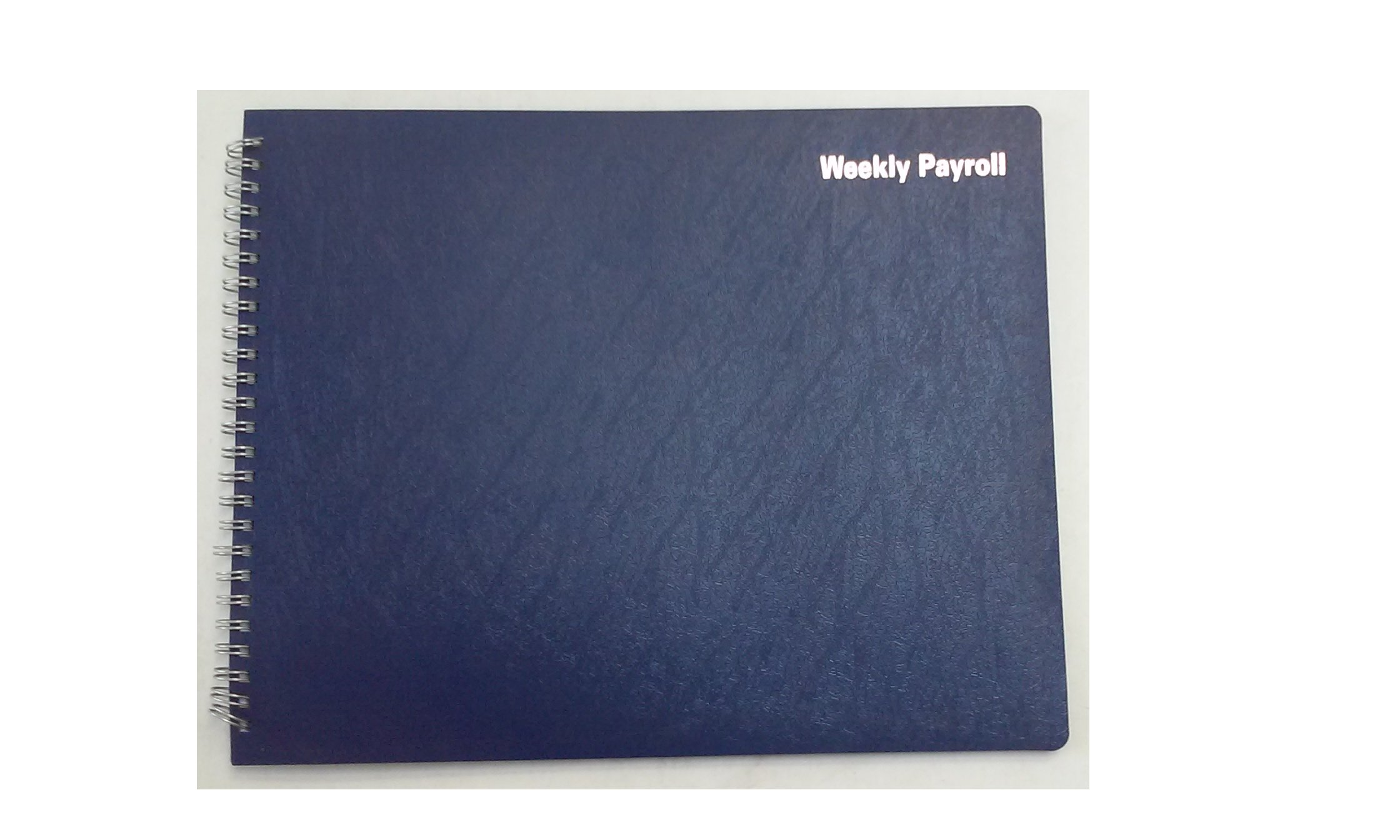 Adams AFR50 Weekly Payroll Book for 1-20 Employees Blue Cover