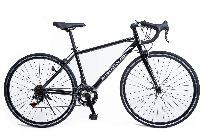 21Technology 700cロードバイク CL27-700 シマノ14段変速  ブラック B00MN9Y3X6