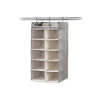Neatfreak 2X5 Hanging Organizer With Top Shelf   Harmony Twill