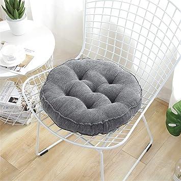 2 cojines de asiento acolchados redondos, almohadillas para