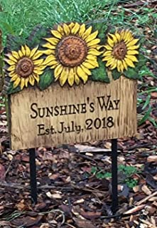product image for Piazza Pisano Sunflower Personalized Garden Sign