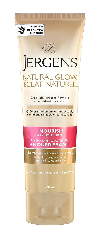 JERGENS Natural Glow Plus Nourish Daily Moisturizer-Fair to Medium, 220 ml Kao