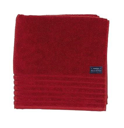 GANT Home Solid Toalla de ducha, 100 % algodón, rojo, 70 x 140