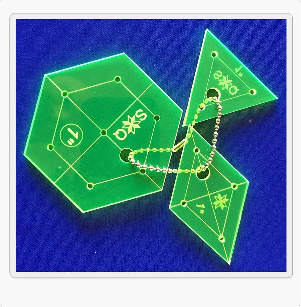 Modello per patchwork Hexagon, Diamente, Triangolo 1 pollici Silesian Quilt