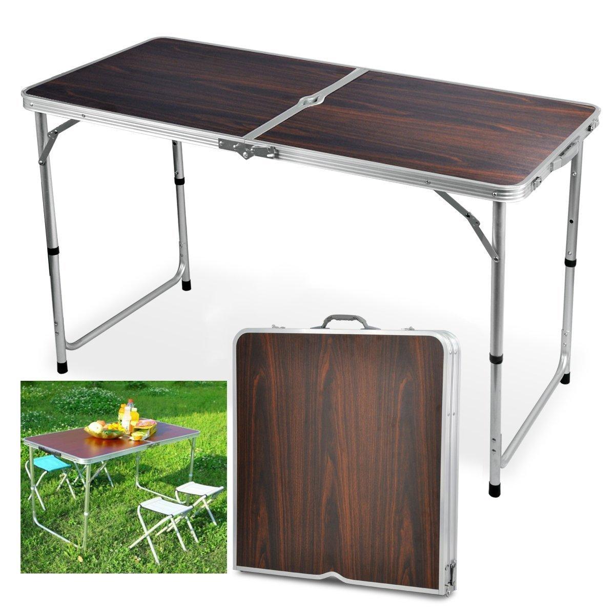 Amazon.de: Yaheetech Gartentisch Klapptisch Campingtisch Falttisch ...