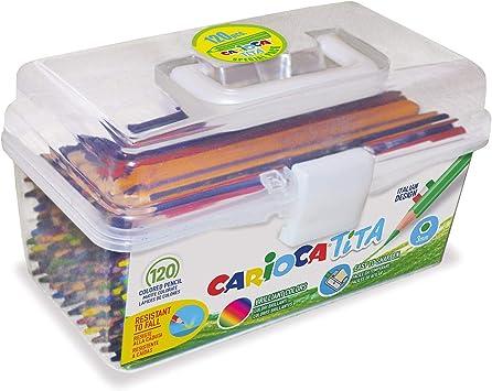 Carioca TITA   42800 - Caja de lápices de Resina Hexagonales, 120 ...