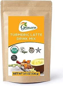 Turmeric Latte Organic Golden Milk Mix Made with Turmeric, Cinnamon, Ginger, Chilli, Black Pepper, Cardamom and Vanilla Bean.