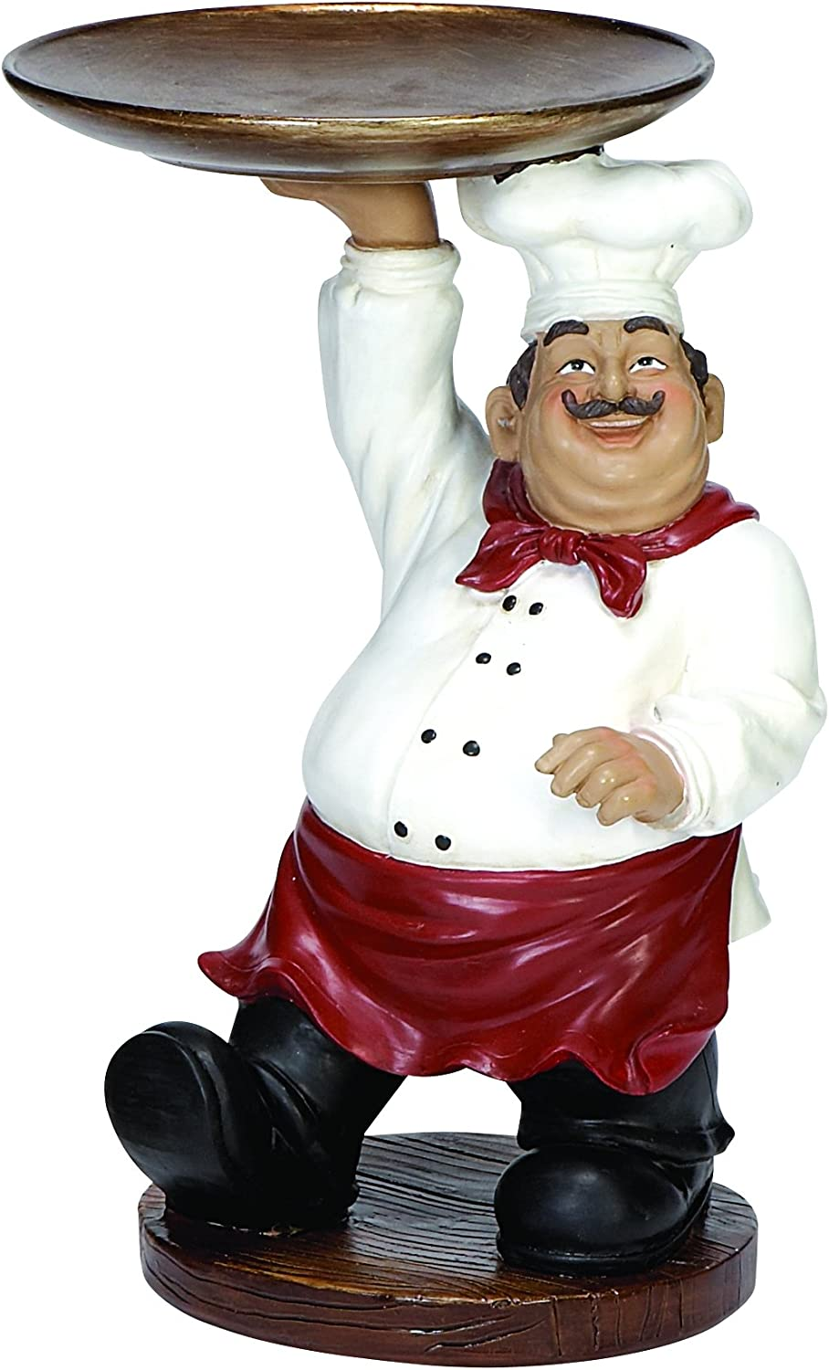 Home Decor Figurine Gift Kitchen Fat Italian Chef Holding Welcome Sign 8 Tall Furniture Diy Rentwork Eu