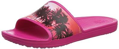 Sloanegrphsld, Chancletas para Mujer, Rosa (Candy Pink/Tropical), 38-39 EU Crocs