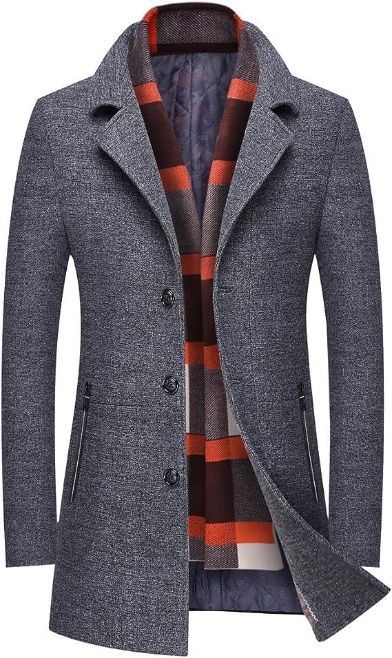 TALLA XS. Mirecoo - Abrigo de lana para hombre, chaqueta cálida para invierno