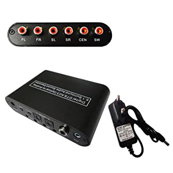 easyday decodificador audio digital 5.1 Dolby AC3 DTS – Convertidor de Audio SPDIF óptica coaxial digital