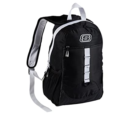 Amazon.com  SKECHERS SPEEDWAY BACKPACK BLACK WHITE  Computers ... 1b8a104b41