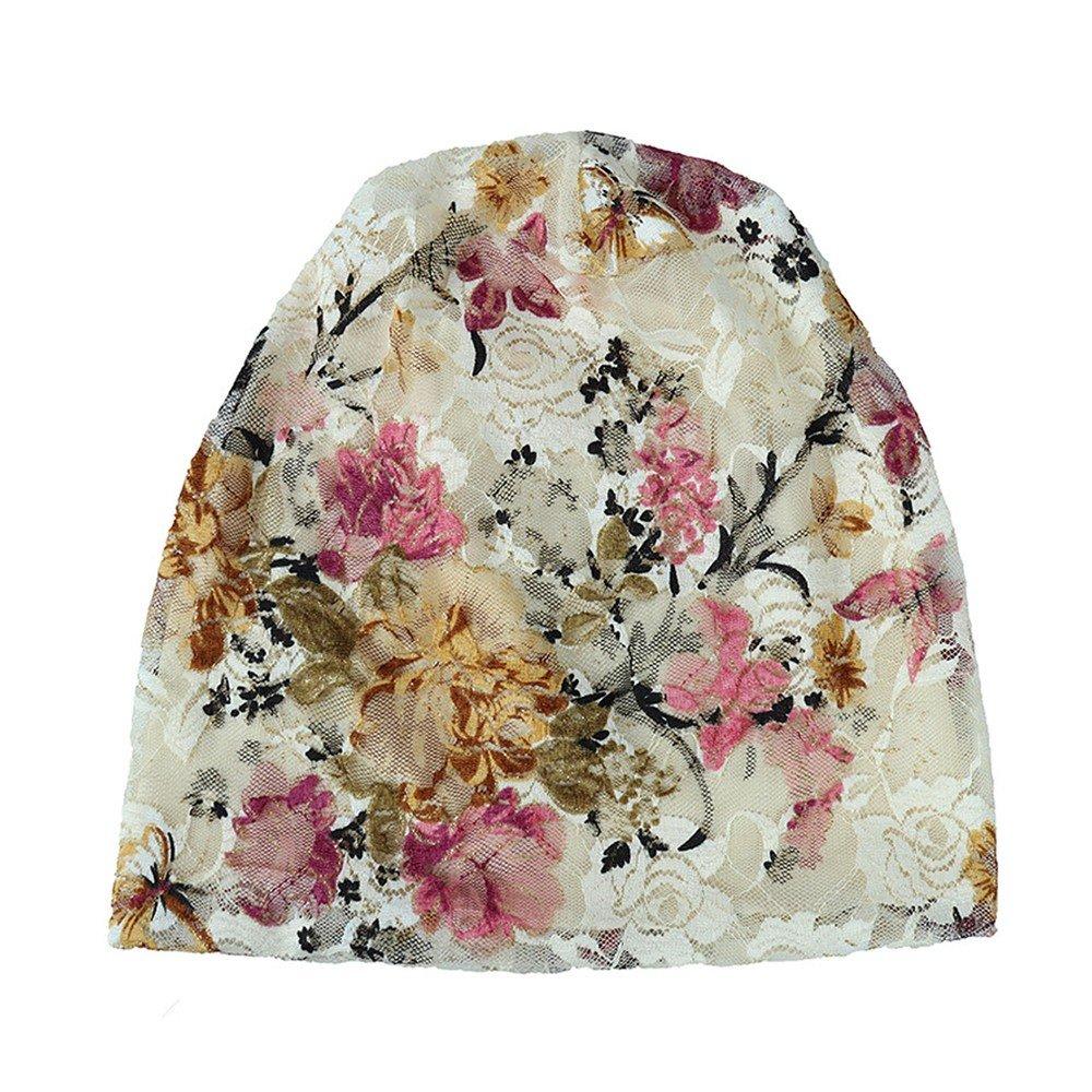 Women India Muslim Stretch Turban Hat Piebo Hair Print Loss Head Scarf Wrap Hijib Cap Scarf Wrap Cap for Cancer Chemo Alopecia Hair Loss