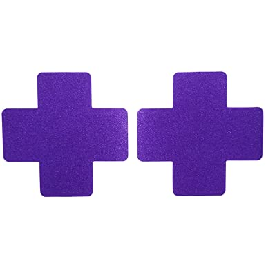 80a4ddf80e049 10 Pairs Women Sexy Nurse Cross Shape Disposable Pasties Nipple Cover  Lingerie on Bra - Purple  Amazon.co.uk  Clothing