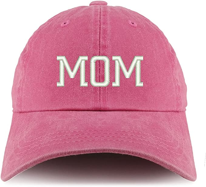 Trendy Apparel Shop Mom Embroidered Pigment Dyed Unstructured