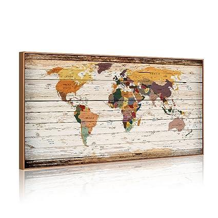 Amazon Com Xxlarge 32 X55 Vintage World Map Canvas Prints Atlas