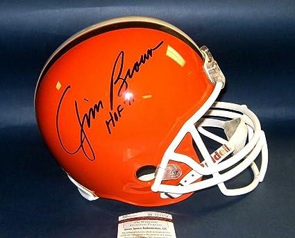 Amazon.com  Jim Brown Signed Helmet - Fs Hof 71 Wf - JSA Certified ... 3bf667ba2