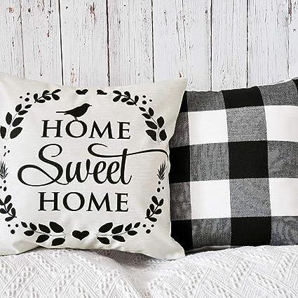Fabulous Pandicorn Set Of 2 Farmhouse Black And White Buffalo Check Short Links Chair Design For Home Short Linksinfo