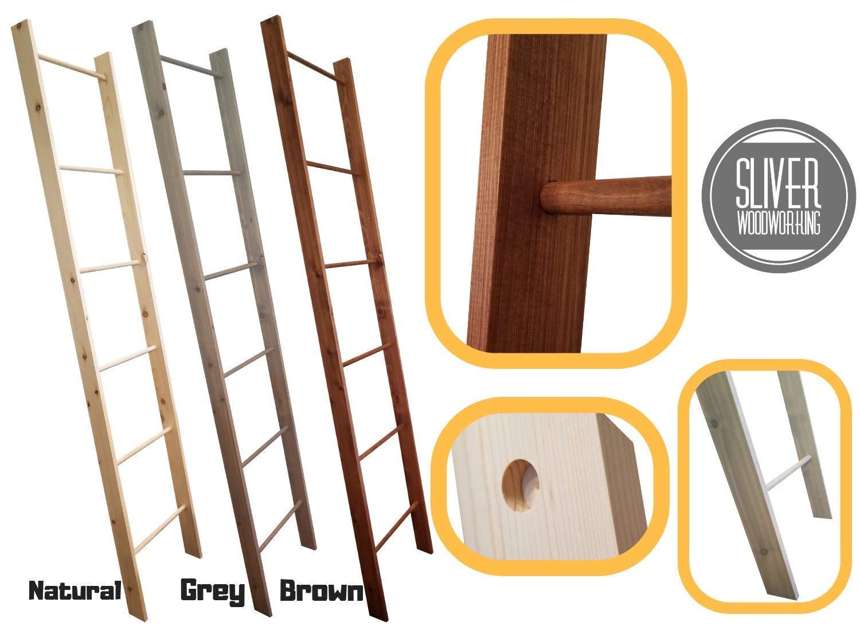 Decorative Blanket Ladder, 4ft 5ft 6ft 7ft 8ft Rustic Wooden Quilt Ladder Rack
