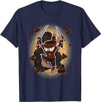 Ninja Poop Emoji with Sword Wearing Mask Halloween Shirt ...