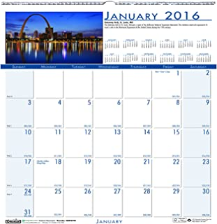 """product image for House of Doolittle 2016 Monthly Wall Calendar, Earthscapes National Monuments, 12"""" x 12"""" (HOD3439-16)"""
