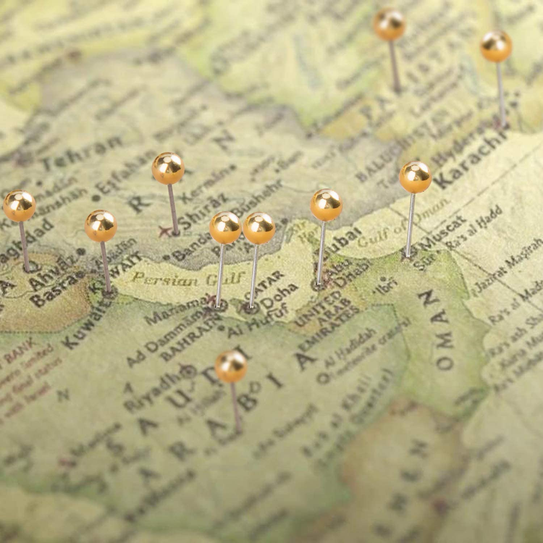 1//8 Zoll Bunt Map Push Pins Kurz Stecknadeln Glas Kopf mit Stahl Punkt f/ür Markieren von Orten Pinnwand 500 St/ück Karte Nagel Pinnadeln Weltkarte