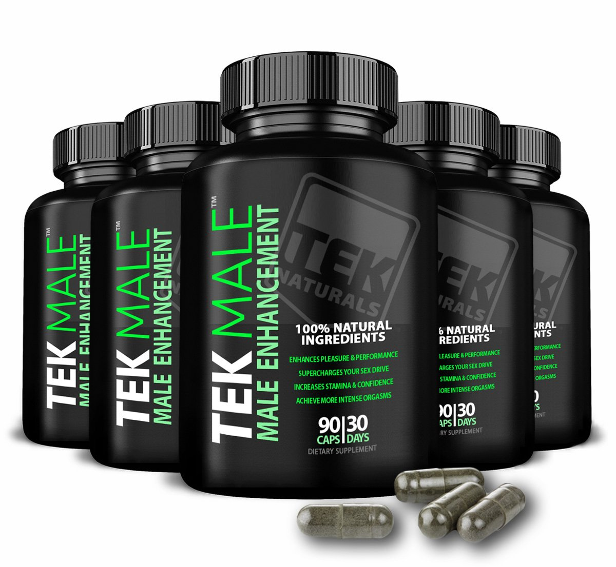 6 Bottles of TEKMale™ All Natural #1 Rated Male Enhancement Growth - 11 Ingredients, 540 Pills, 180 Day Supply - Horny Goat Weed - Strength, Energy, Erections, Stamina and More (6)