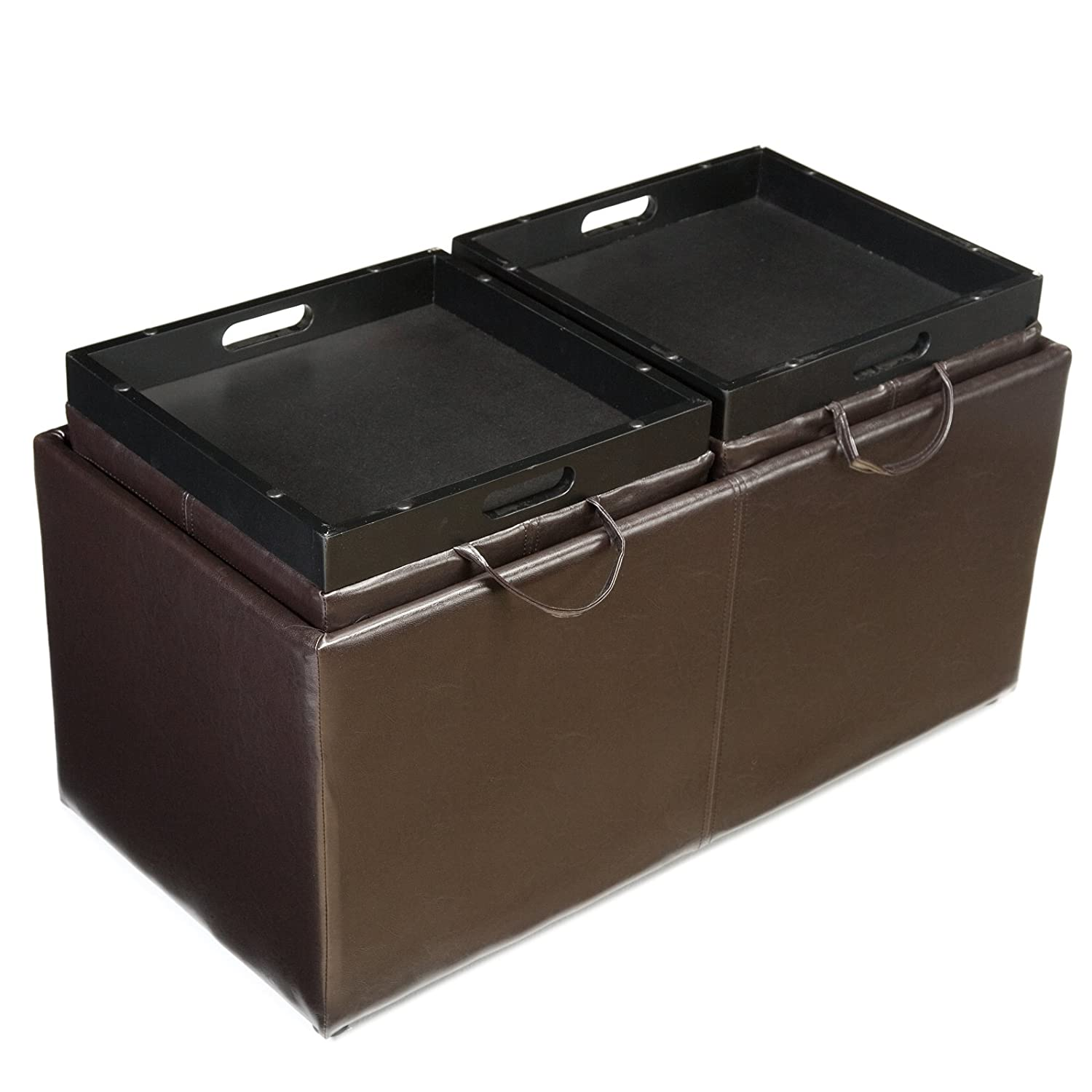 Amazon Jameson Double Storage Ottoman with Tray Tables