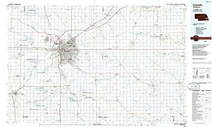 Amazon.com : YellowMaps Lincoln NE topo map, 1:100000 Scale ...