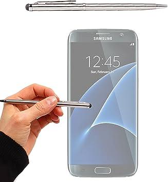 DURAGADGET Puntero Gris Plata 2 En 1 para Samsung Galaxy S7 | S7 ...