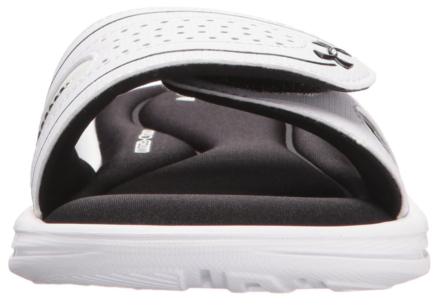 Under Armour Women's Ignite VIII M Slide Sandal B01GSYTUYS 9 M VIII US|White (100)/Black c4fb61