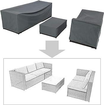 Amazon Com Baner Garden K35 3 Piece Outdoor Veranda Patio Garden Furniture Cover Set With Durable And Water Resistant Fabric Kitchen Dining