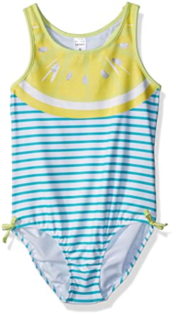 d9b7b12be Amazon.com: Carter's Girls' Heart One Piece Swimsuit: Clothing