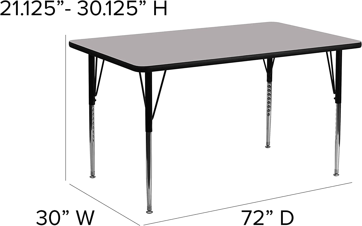 4 Fusion//Black Table Tops Made in The USA 18 Black Chairs Included Marco Group 30 x 60 Rectangular Shaped Table with