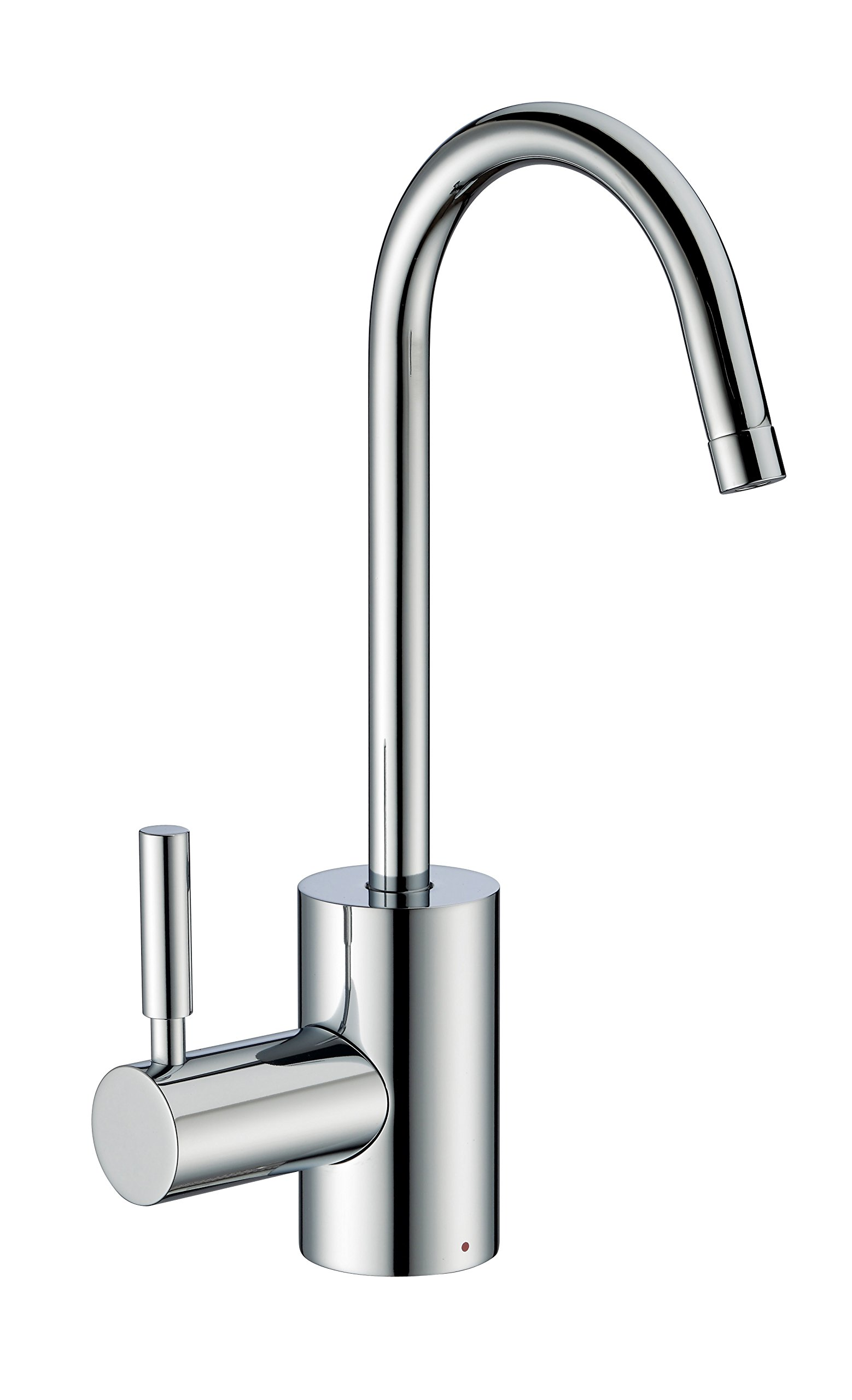 Whitehaus Collection WHFH-H1010-C Forever Point of Use Instant Hot Water Faucet with Contemporary Spout and Self Closing Handle Polished Chrome