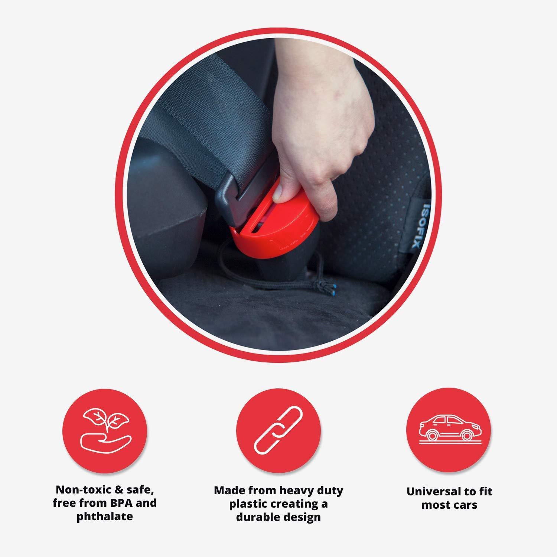 einfach zu installierender Kunststoff-Gurtschutz Verschlussclip f/ür die meisten Automodelle 2-Stuck Autositz-Schnallenschutz f/ür die Sicherheit von Babys und Kleinkindern Ultimative Sicherheit