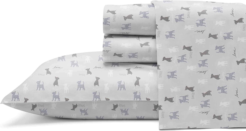 Ed Ellen Degeneres Percale Collection Bed Sheet Set 100 Cotton Oeko Tex Certified Crisp Cool Lightweight Moisture Wicking Bedding Twin Augie Friends Home Kitchen Amazon Com