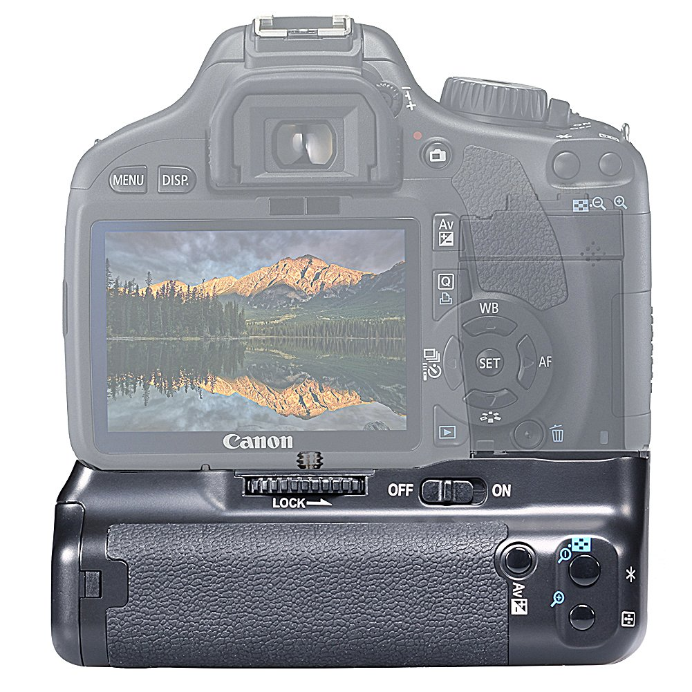 Rebel T2i T3i T4i T5i SLR Neewer BG-E8 Empu/ñadura de Bater/ía para C/ámaras R/éflex Canon EOS 550D 600D