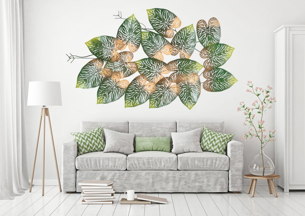 Buy Collectible India Big Beautiful Metal Led Tree Leaf Wall Art Sculpture Wall Decor And Hanging Size 45x28x2 Inches Online At Low Prices In India Amazon In