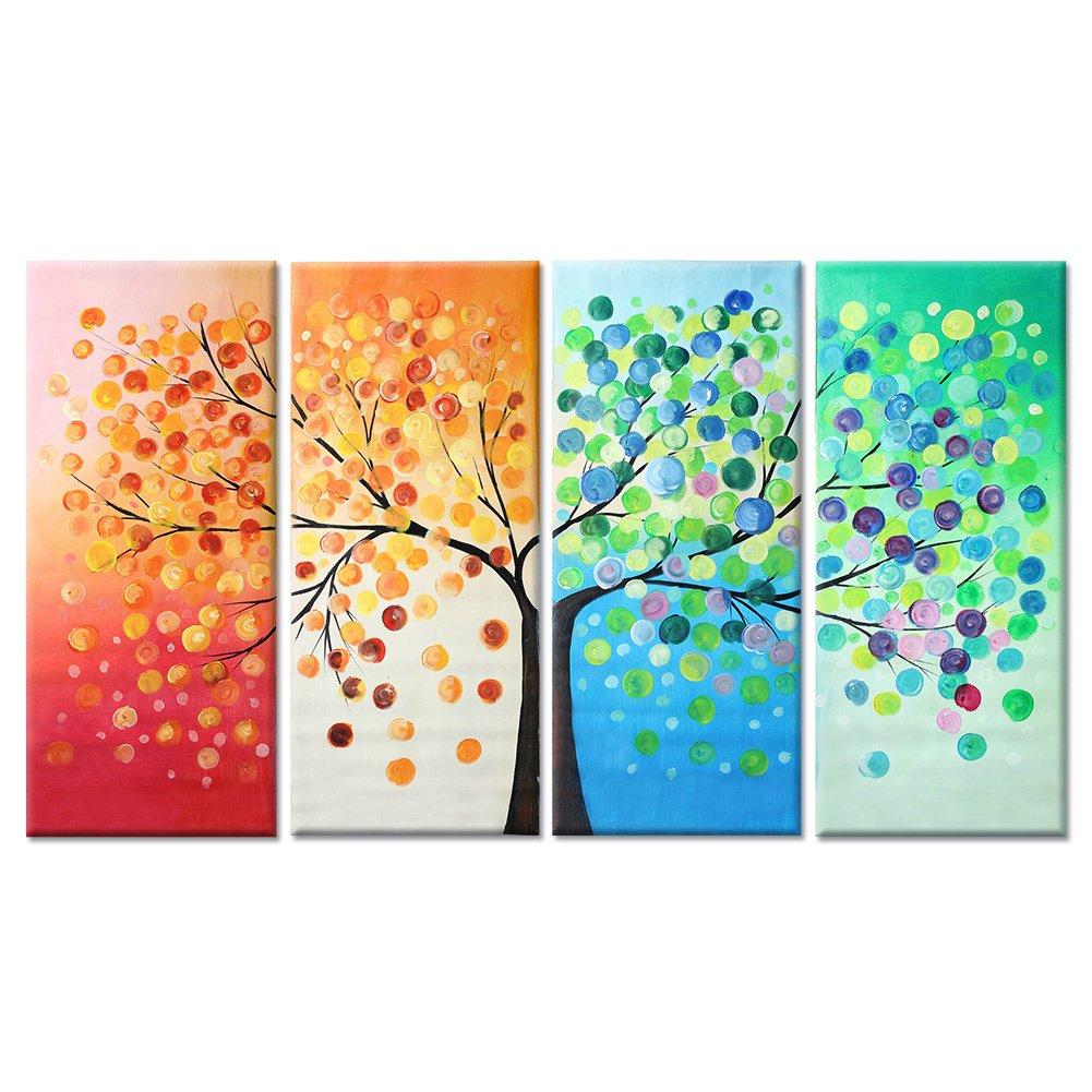 Raybre Art® 100% Pintado a Mano al óleo Cuadros en lienzo Modernos ...